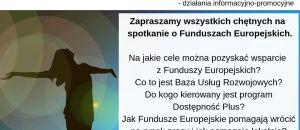 """Spotkanie """"Fundusze Europejskie"""" - Gołczewo 2019r."""