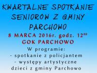 Kwartalne spotkanie Seniorów z Gminy Parchowo