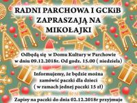 Mikołajki w Gminnym Centrum Kultury i Bibliotece w Parchowie - 2018r.
