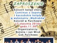 Koncert kolęd w Parchowie - 17.01.2016r.