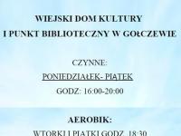 Wiejski Dom Kultury w Gołczewie - godziny otwarcia